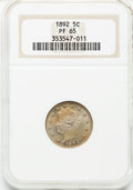 Proof Liberty Nickels: , 1892 5C PR65 NGC. NGC Census: (106/47). PCGS Population (115/26).Mintage: 2,745. Numismedia Wsl. Price for problem free NG...