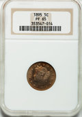 Proof Liberty Nickels: , 1895 5C PR65 NGC. NGC Census: (104/35). PCGS Population (85/13).Mintage: 2,062. Numismedia Wsl. Price for problem free NGC...