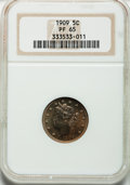 Proof Liberty Nickels: , 1909 5C PR65 NGC. NGC Census: (353/350). PCGS Population (323/236).Mintage: 4,763. Numismedia Wsl. Price for problem free ...