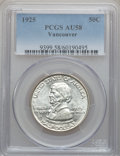 Commemorative Silver: , 1925 50C Vancouver AU58 PCGS. PCGS Population (83/2926). NGCCensus: (34/2084). Mintage: 14,994. Numismedia Wsl. Price for ...