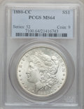 Morgan Dollars: , 1880-CC $1 MS64 PCGS. PCGS Population (4373/3020). NGC Census:(2994/1805). Mintage: 591,000. Numismedia Wsl. Price for pro...