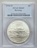 Modern Issues, 1996-D $1 Olympic/Rowing Silver Dollar MS69 PCGS. PCGS Census:(520/113). PCGS Population (846/121). Numismedia Wsl. Price...