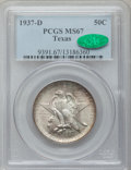 Commemorative Silver: , 1937-D 50C Texas MS67 PCGS. CAC. PCGS Population (123/2). NGCCensus: (92/3). Mintage: 6,605. Numismedia Wsl. Price for pro...