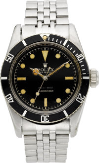 "Rolex Rare Ref. 6538 ""James Bond"" Big Crown Submariner, circa 1956"
