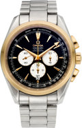 Timepieces:Wristwatch, Omega Steel & Gold Limited Edition 2008 Beijing OlympicSeamaster Chronometer. ...
