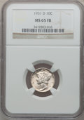 Mercury Dimes: , 1931-D 10C MS65 Full Bands NGC. NGC Census: (137/63). PCGS Population (332/211). Mintage: 1,260,000. Numismedia Wsl. Price ...