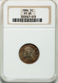 Proof Liberty Nickels: , 1894 5C PR65 NGC. NGC Census: (112/52). PCGS Population (113/15).Mintage: 2,632. Numismedia Wsl. Price for problem free NG...
