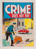 Original Comic Art:Covers, George Tuska Crime Does Not Pay #131 Cover Re-CreationOriginal Art (undated)....