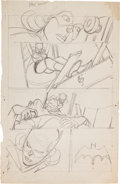 Original Comic Art:Miscellaneous, Gil Kane Detective Comics Batgirl Page Preliminary LayoutSketch Original Art (DC, c. 1971)....