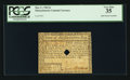 Colonial Notes:Massachusetts, Massachusetts May 5, 1780 $2 Hole Punch Cancel PCGS Very Fine 35.....