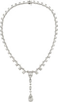 Estate Jewelry:Necklaces, Diamond, Platinum Necklace, JB Star. ...