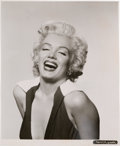 Movie/TV Memorabilia:Photos, A Marilyn Monroe Classic Black and White Headshot, 1952....