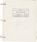 Explorers:Space Exploration, Apollo 13 Flown CSM Systems Data Book Originally from thePersonal Collection of Mission Commander James Lovell, S...