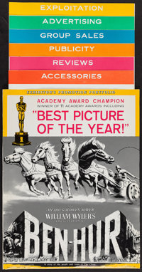 """Ben-Hur (MGM, 1960). Uncut Pressbook (Multiple Pages, Six Sections, 14"""" X 17"""" - 14' -19"""") Academy Award C..."""