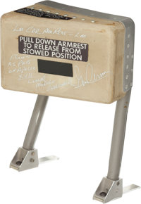 Apollo 17 Lunar Module Flown Commander's Armrest Originally From the Personal Collection of Mission Commander Gene Cerna...