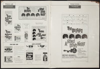 "A Hard Day's Night (United Artists, 1964). Pressbook (Multiple Pages) (13.25"" X 18""). Rock and Roll"