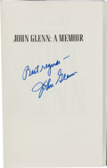 """Autographs:Celebrities, John Glenn: John Glenn A Memoir Signed Book Directly from the Personal Collection of Astronaut """"Den Mother"""" Lo..."""