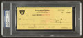 Football Collectibles:Others, 1978 Al Davis Signed Oakland Raiders Payroll Check Rare Full Name Signature - PSA/DNA Authentic....