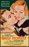 "Movie Posters:Drama, Brief Moment (Columbia, 1933). Trimmed Midget Window Card (7 1/2"" X 11 3/4""). Drama.. ..."