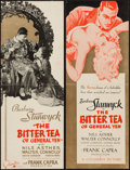 """Movie Posters:Drama, The Bitter Tea of General Yen (Columbia, 1933). Promotional Items (2) (9"""" X 12"""" - closed), (9"""" X 24"""" - opened up). Two Style... (Total: 2 Items)"""