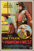 "Movie Posters:Serial, The Phantom of the West (Mascot, 1931). One Sheet (27"" X 41"") Chapter 10 -- ""Rogues' Roundup."" Serial.. ..."