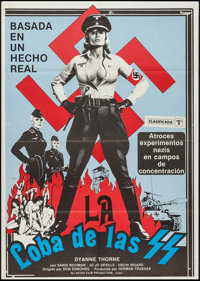 "Ilsa, She Wolf of the SS (Cambist Films, 1975). Spanish One Sheet (27.5"" X 39""). Exploitation"