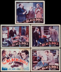 """Movie Posters:Mystery, The Black Doll (Astor, R-1942). Title Lobby Card & Lobby Cards (4) (11"""" X 14""""). Mystery.. ... (Total: 5 Items)"""