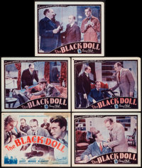 "The Black Doll (Astor, R-1942). Title Lobby Card & Lobby Cards (4) (11"" X 14""). Mystery. ... (Total: 5 Ite..."