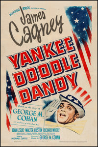 "Yankee Doodle Dandy (Warner Brothers, 1942). One Sheet (27"" X 41""). Musical"