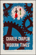 """Movie Posters:Comedy, Modern Times (Lopert, R-1959). One Sheet (27"""" X 41""""). Comedy.. ..."""