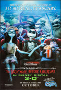 """Movie Posters:Animation, The Nightmare Before Christmas 3-D (Walt Disney Pictures, R-2006).Lenticular One Sheet (27"""" X 40"""") 3-D Advance Style. Anima..."""