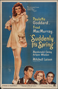 """Movie Posters:Comedy, Suddenly It's Spring (Paramount, 1946). One Sheet (27"""" X 41""""). Comedy.. ..."""