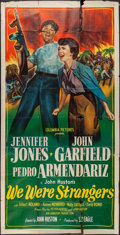 "Movie Posters:Adventure, We Were Strangers (Columbia, 1949). Three Sheet (41"" X 81""). Adventure.. ..."