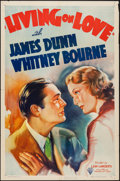 "Movie Posters:Comedy, Living on Love (RKO, 1937). One Sheet (27"" X 41""). Comedy.. ..."