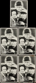 "Movie Posters:Comedy, Three Stooges (Columbia, 1936). Promotional Giveaway Heralds (5)(5"" x 7.75""). Comedy.. ... (Total: 5 Items)"