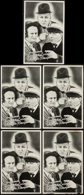 """Three Stooges (Columbia, 1936). Promotional Giveaway Heralds (5) (5"""" x 7.75""""). Comedy. ... (Total: 5 Items)"""