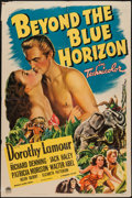 "Movie Posters:Adventure, Beyond the Blue Horizon (Paramount, 1942). One Sheet (27"" X 41"").Adventure.. ..."