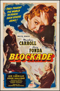 """Movie Posters:War, Blockade (Masterpiece Productions, R-1948). One Sheet (27"""" X 41"""").Action.. ..."""