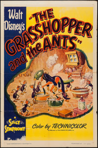 """The Grasshopper and the Ants (RKO, R-1949). One Sheet (27"""" X 41""""). Animation"""
