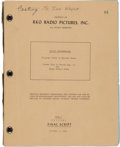 "Movie/TV Memorabilia:Documents, A John Wayne Personally-Owned Script from ""The Flying Leathernecks.""..."