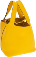 Luxury Accessories:Bags, Hermes Jaune Clemence Leather Picotin PM Tote Bag. ...