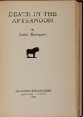 Books:Literature 1900-up, Ernest Hemingway. Death in the Afternoon. Scribners, 1932.First edition, first printing. Custom full black moro...