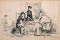 Mainstream Illustration, ISAAC HENRY CALIGA (American, 1857-1944). A Flaw in theTitle, 1883. Ink on board. 7.5 x 11.5 in. (image). Signed lower... (Total: 2 Items)