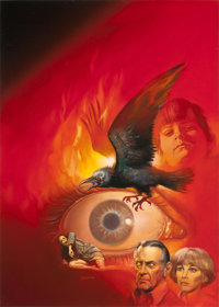 BORIS VALLEJO (American, b. 1941) The Omen II, preliminary promotional movie poster artwork Acrylic