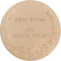 Movie/TV Memorabilia:Awards, A Walter Matthau Award, 1980....