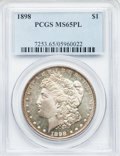 Morgan Dollars: , 1898 $1 MS65 Prooflike PCGS. PCGS Population (106/10). NGC Census:(73/9). Numismedia Wsl. Price for problem free NGC/PCGS...