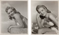 Movie/TV Memorabilia:Photos, A Marilyn Monroe Set of Rare Black and White Cheesecake Photographs, Circa 1948....