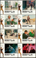 "Movie Posters:Crime, Dirty Harry (Warner Brothers, 1971). Lobby Card Set of 8 (11"" X14"").. ..."