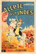 "Movie Posters:Adventure, Drums (London, 1938). French Affiche (31"" X 47"").. ..."