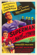 "Movie Posters:Action, Superman and the Mole Men (International Film, 1951). FrenchAffiche (31.5"" X 47.5"").. ..."